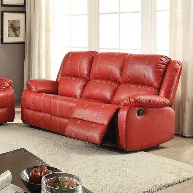 Zuriel Reclining Sofa (Red)