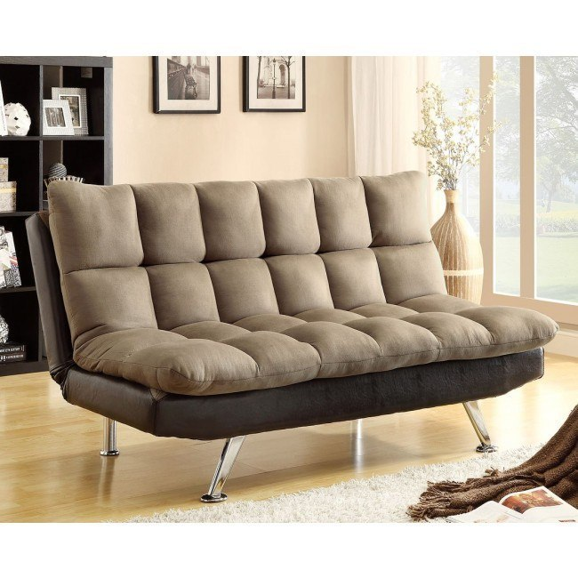 Sundown Adjustable Sofa Bed (Espresso/Pebble)