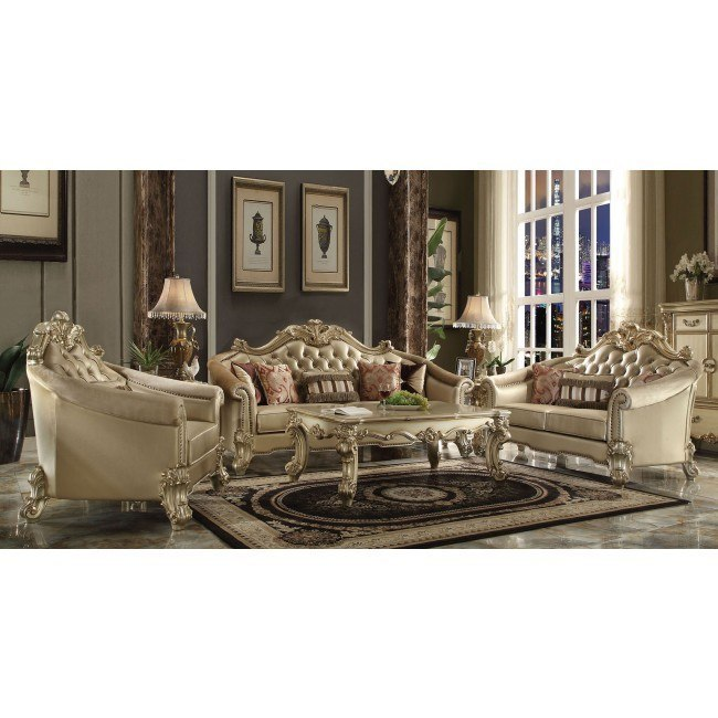 Vendome II Living Room Set (Bone)