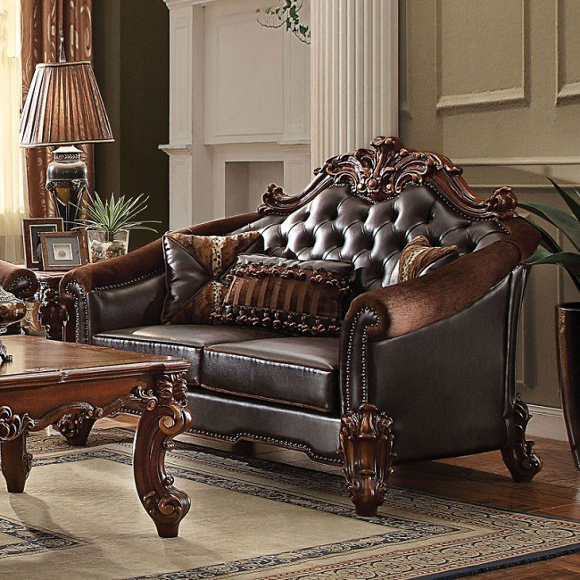 Vendome II Loveseat (Dark Brown)