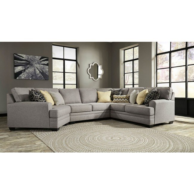 Cresson Pewter Modular Sectional