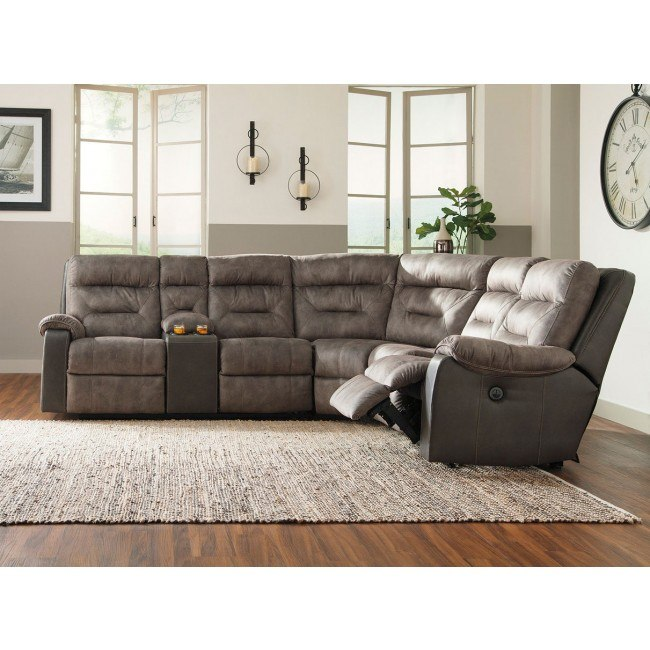 Hacklesbury Brownstone Modular Power Reclining Sectional