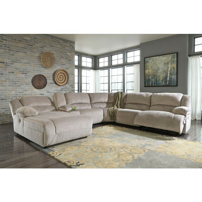 Modular Sectional Sofa Ashley: Toletta Granite Modular Reclining Sectional By Signature