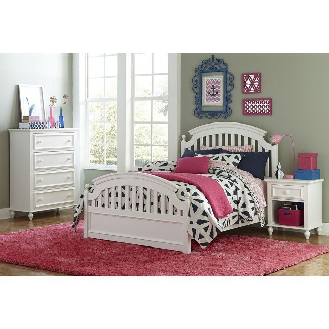 Academy Poster Bedroom Set (White)