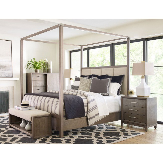 Highline Upholstered Canopy Bedroom Set
