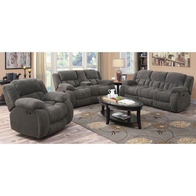Weissman Reclining Living Room Set (Charcoal)