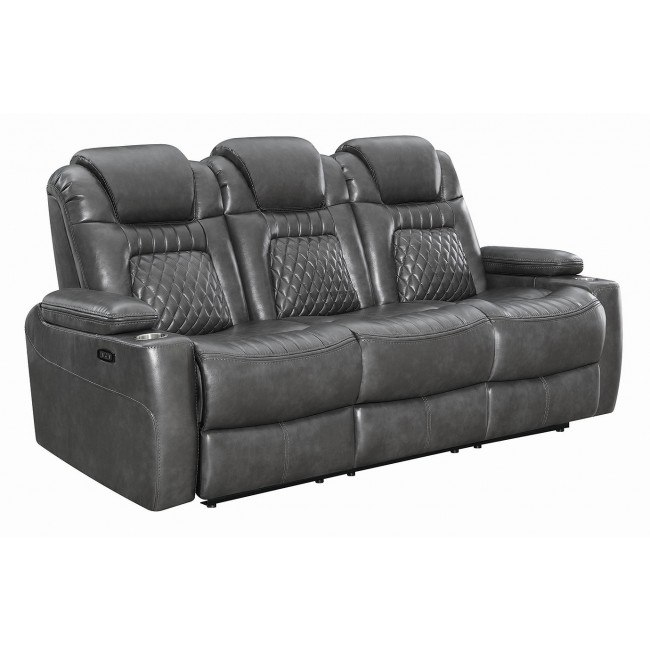 Prime Korbach Power Reclining Sofa W Power Headrests Charcoal Machost Co Dining Chair Design Ideas Machostcouk
