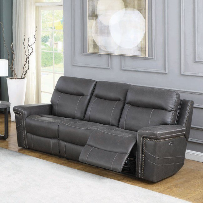 Reclining Sofa W Headrests