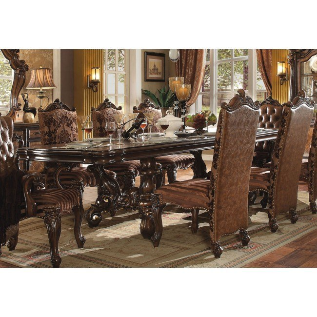Versailles 120 Inch Dining Table (Cherry Oak) By Acme