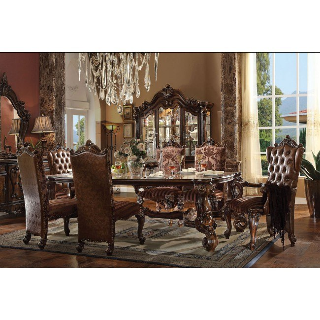 Versailles 96 Inch Dining Room Set (Cherry Oak)