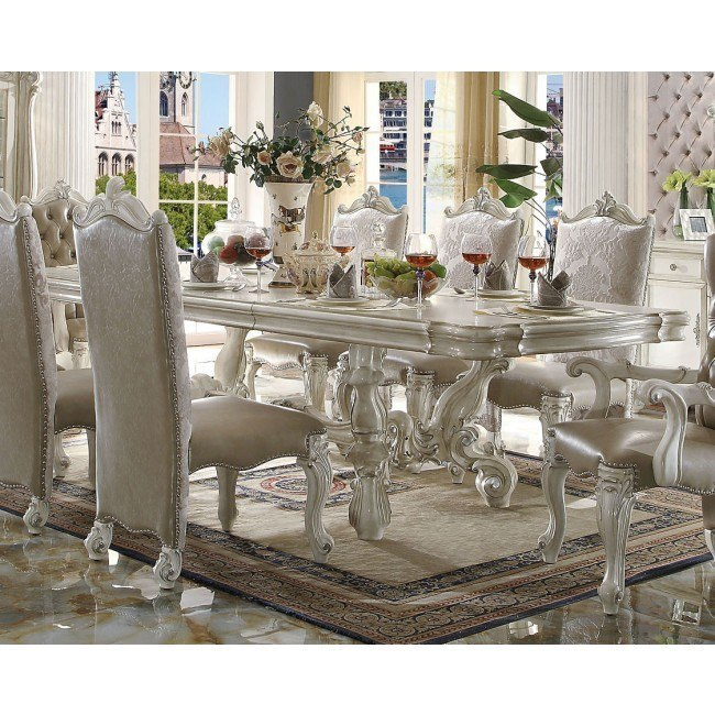 Versailles 120 Inch Dining Table (Bone White)