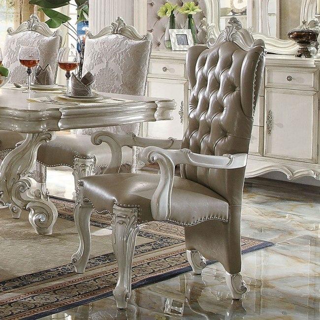 Versailles Arm Chair (Bone White) (Set of 2)