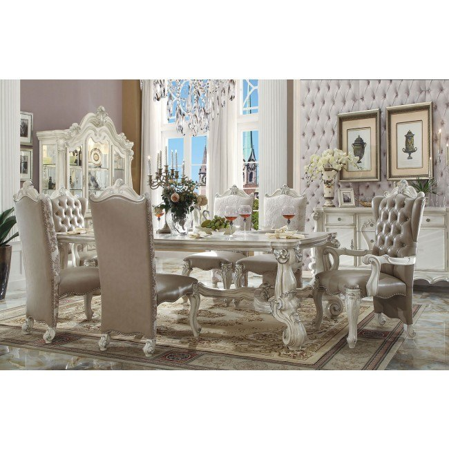 Versailles 96 Inch Dining Room Set (Bone White)