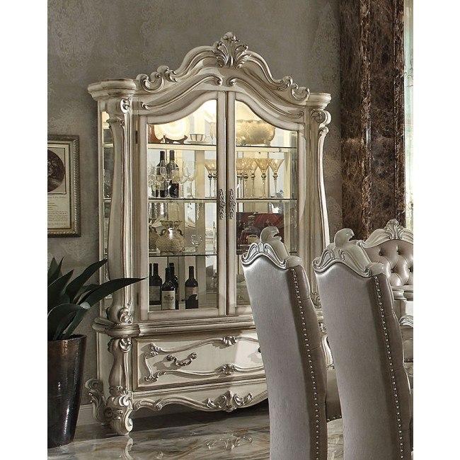 Versailles Curio Cabinet (Bone White)