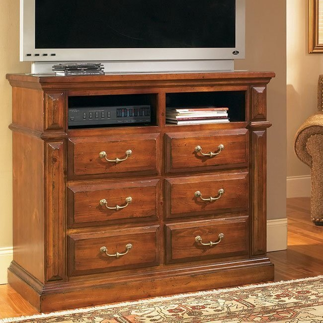 Torreon Media Chest Antique Pine By