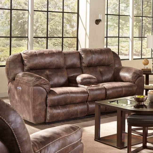 Ferrington Power Lay Flat Reclining Loveseat W/ Console