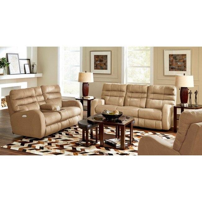 Kelsey Power Lay Flat Reclining Living Room Set (Doe