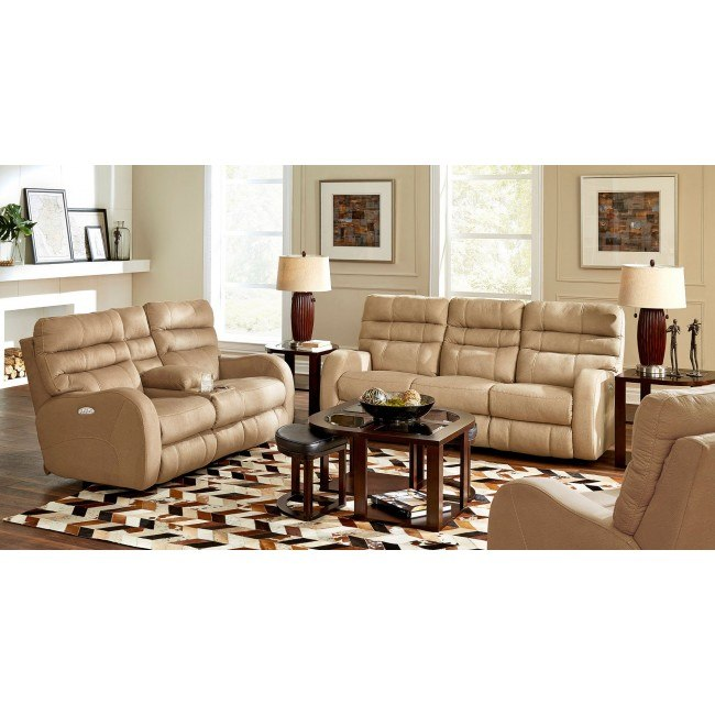 Kelsey Power Lay Flat Reclining Living Room Set (Aluminum