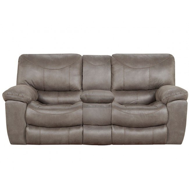 Pleasant Trent Power Reclining Loveseat W Console Charcoal Pdpeps Interior Chair Design Pdpepsorg