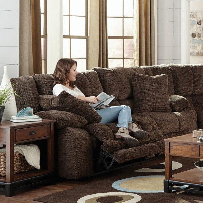 Branson Power Lay Flat Reclining Sofa (Chocolate)