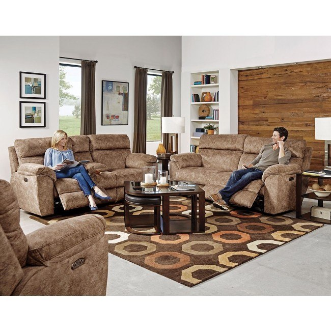 Sedona Power Lay Flat Reclining Living Room Set w/ Power Headrests and Lumbar (Mesa)