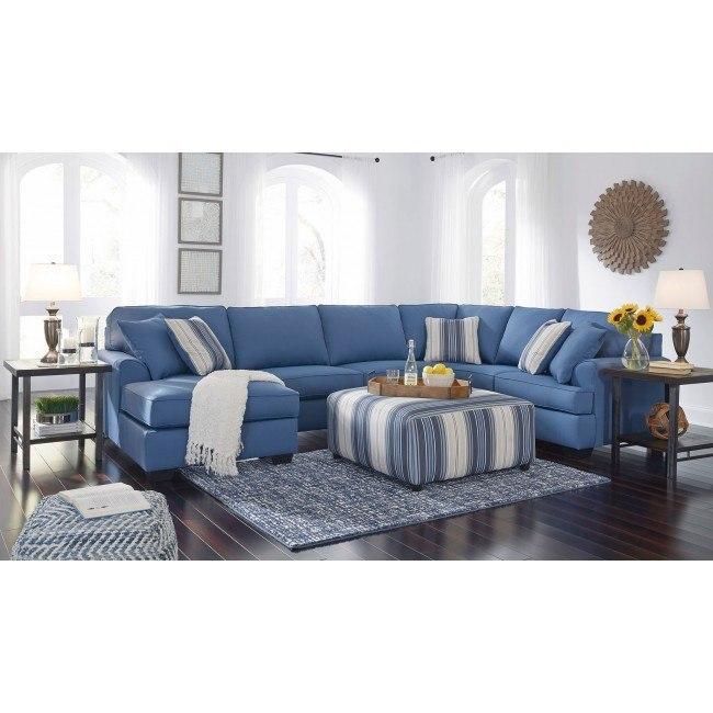 Brioni Nuvella Blue Sectional Set