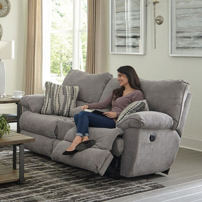 Stupendous Sadler Power Lay Flat Reclining Loveseat W Console Mica Ocoug Best Dining Table And Chair Ideas Images Ocougorg