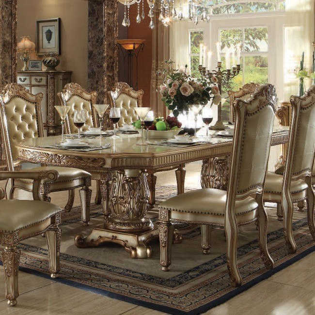 Vendome Dining Table (Gold Patina)