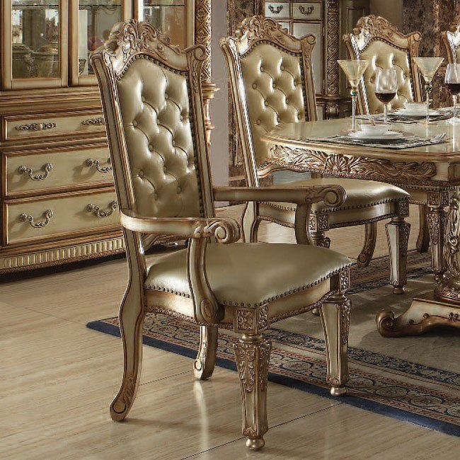 Vendome Arm Chair (Gold Patina) (Set of 2)