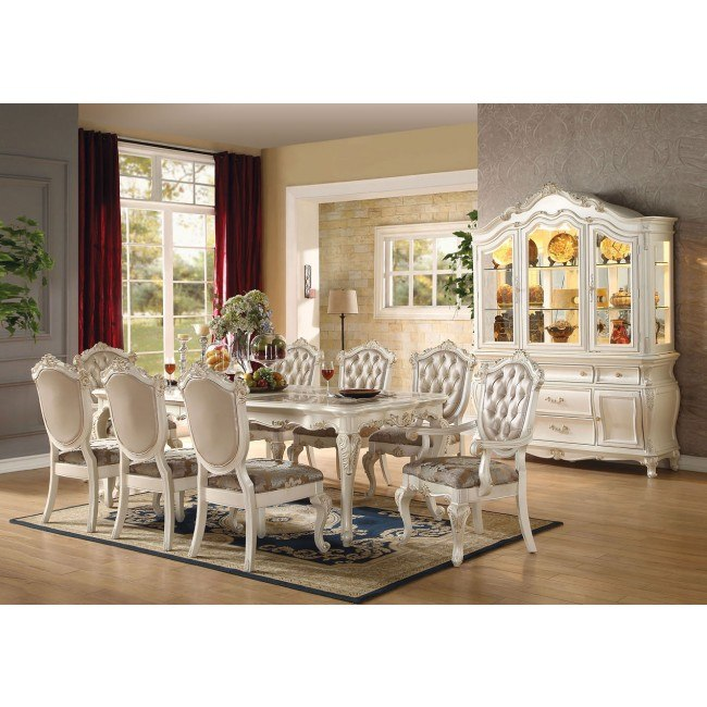 Chantelle Dining Room Set (Pearl White)