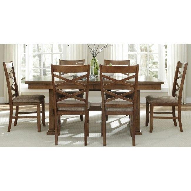 Bistro Rectangular Dining Room Set (Honey)