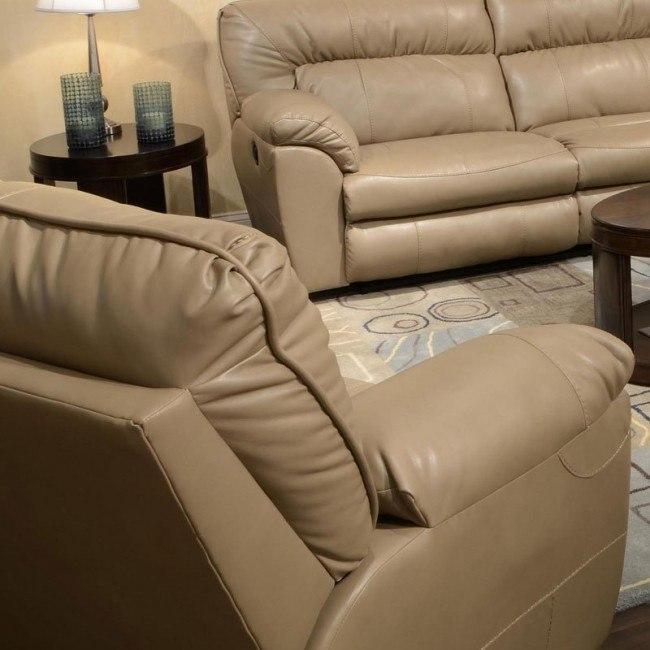 Fine Nolan Power Extra Wide Cuddler Recliner Putty Inzonedesignstudio Interior Chair Design Inzonedesignstudiocom