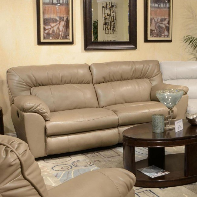 Nolan Power Extra Wide Reclining Sofa (Putty)