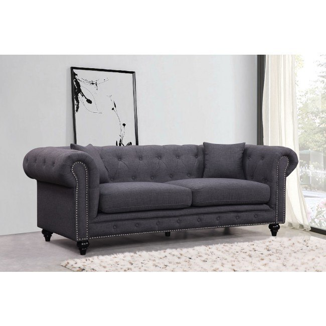 Chesterfield Sofa (Grey)