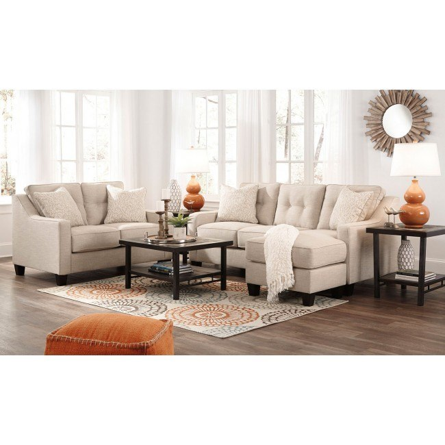 Aldie Nuvella Sand Living Room Set