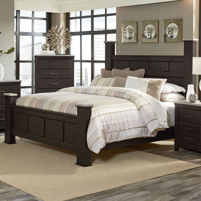 Stonehill Dark Poster Bed