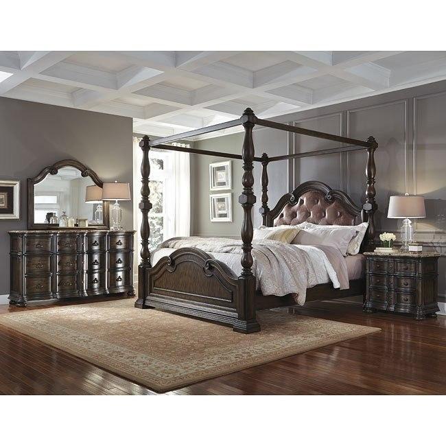Cortina Canopy Bedroom Set By Pulaski Furniture