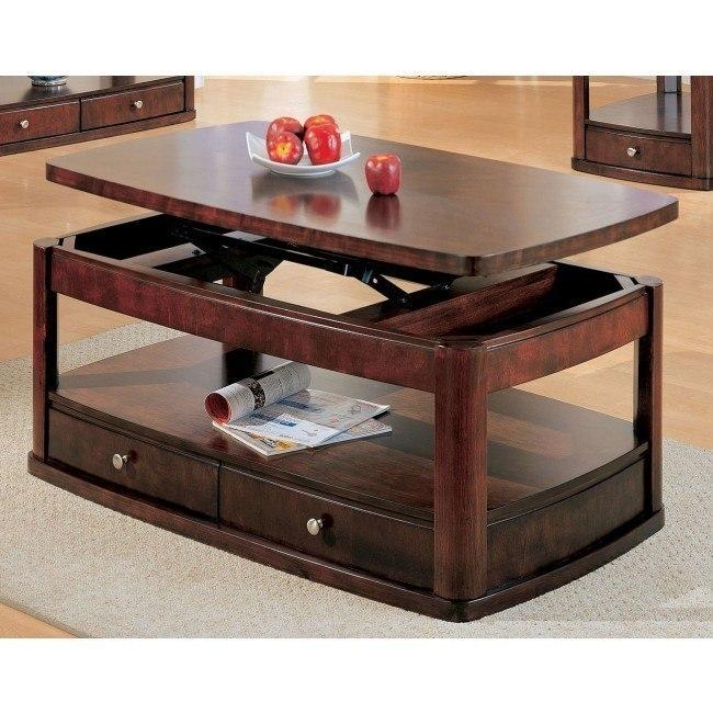 Evans Rectangular Coffee Table w/ Lift Top
