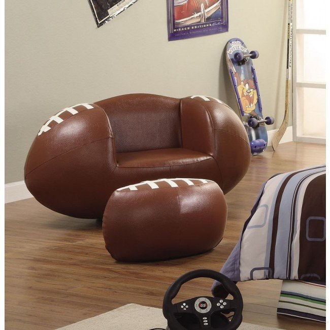Football Kids Swivel Chair w/ Ottoman