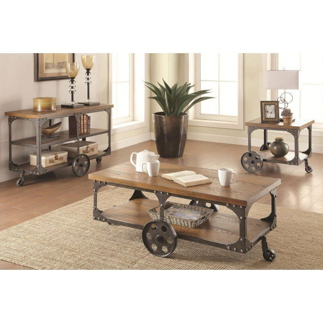 Industrial Occasional Table Set