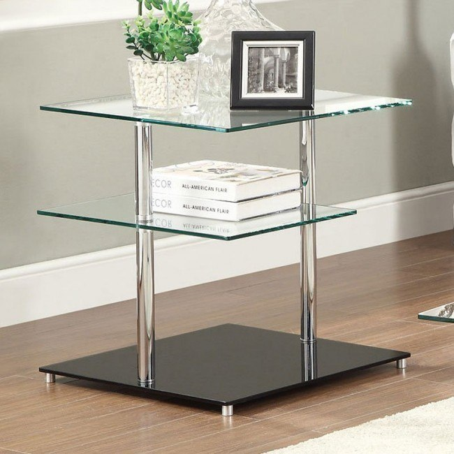 Square Swiveling End Table