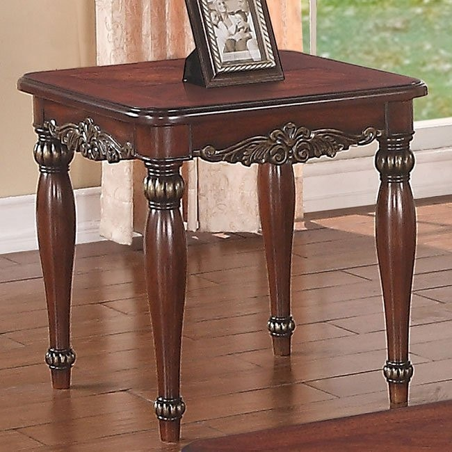 Curved Details End Table