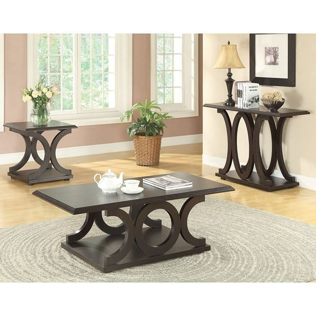 C-Shaped Occasional Table Set