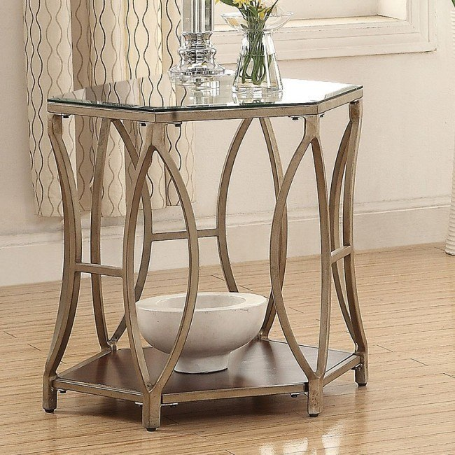 Magnificent Hexagon End Table Pabps2019 Chair Design Images Pabps2019Com