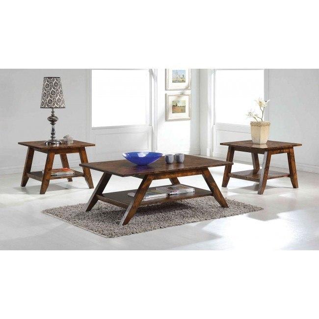 Rustic Pecan Occasional Table Set