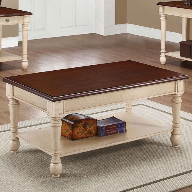 Marvelous Two Tone Coffee Table Camellatalisay Diy Chair Ideas Camellatalisaycom