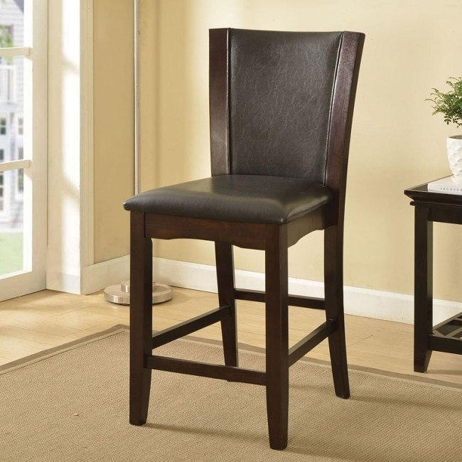 Malik Counter Height Chair (Espresso) (Set of 2)