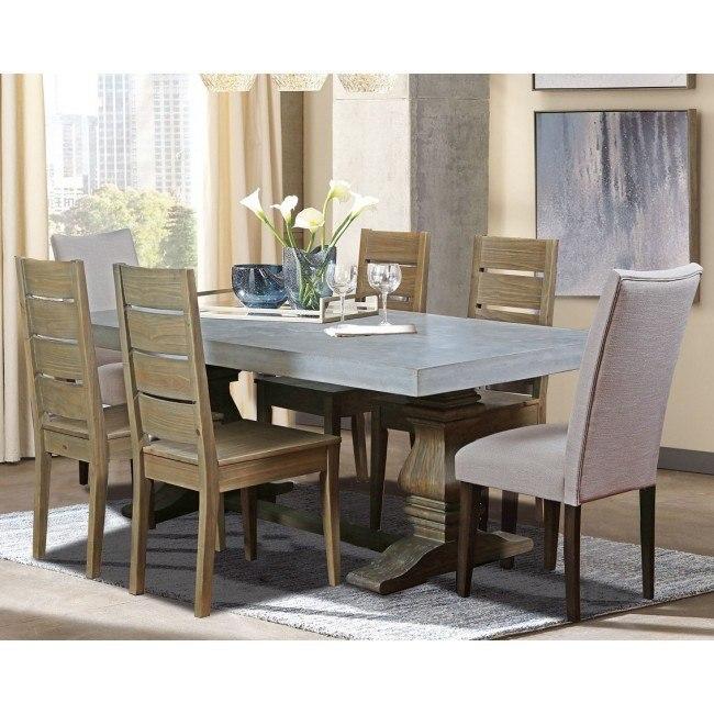 Bronson Concrete Top Dining Room Set