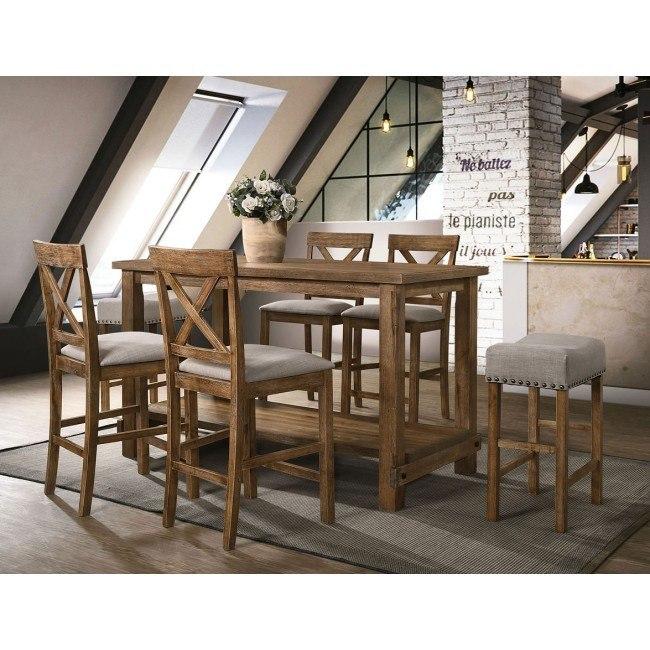 Martha Ii Counter Height Dining Room Set Weathered Oak