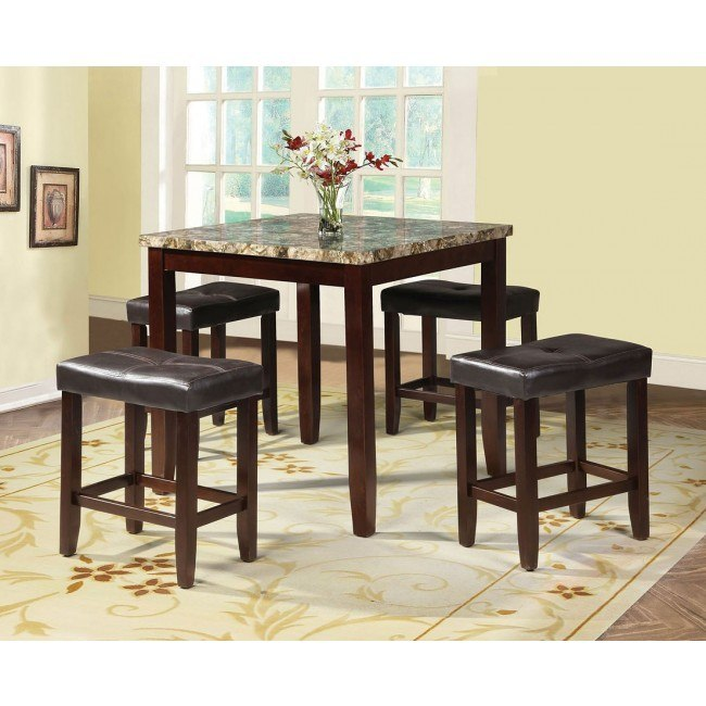 Rolle 5-Piece Counter Height Dining Room Set